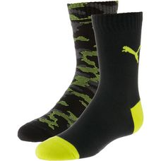 PUMA Socken Pack Kinder black-grey-yellow