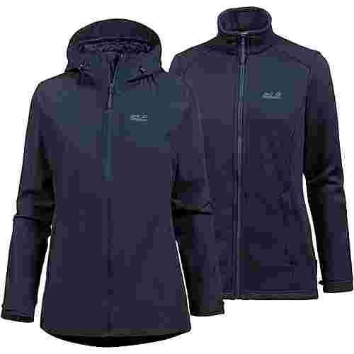 Jack Wolfskin Norrland 3in1 Doppeljacke Damen midnight blue