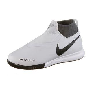 Nike JR Phantom VSN ACADEMY DF IC Fußballschuhe Kinder wolf grey-mtlc dk grey-dk grey-lt crimson-pure platinum