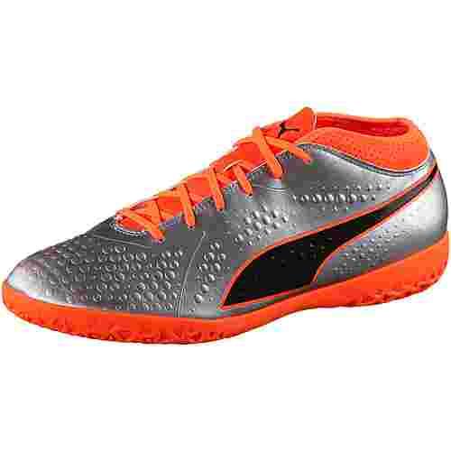 PUMA PUMA ONE 4 Syn IT Fußballschuhe puma silver-shocking orange-puma black