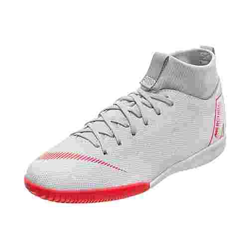 Nike Mercurial SuperflyX VI Academy Indoor Fußballschuhe Kinder grau / rot
