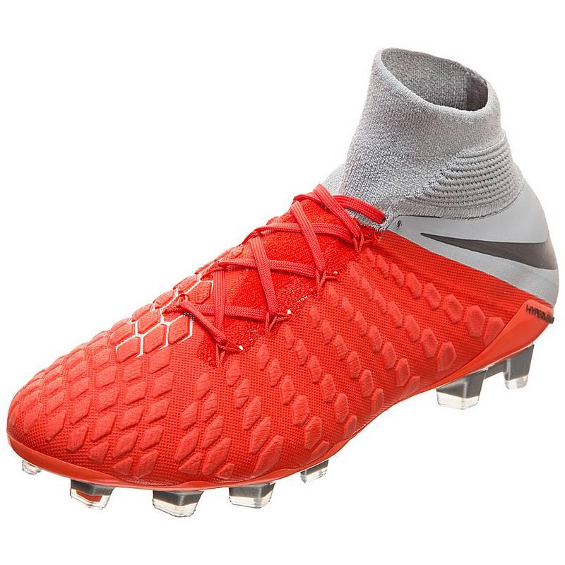 sale retailer 9ebb6 3474f Nike Hypervenom Phantom III Elite DF FG Fußballschuhe Herren rot  grau