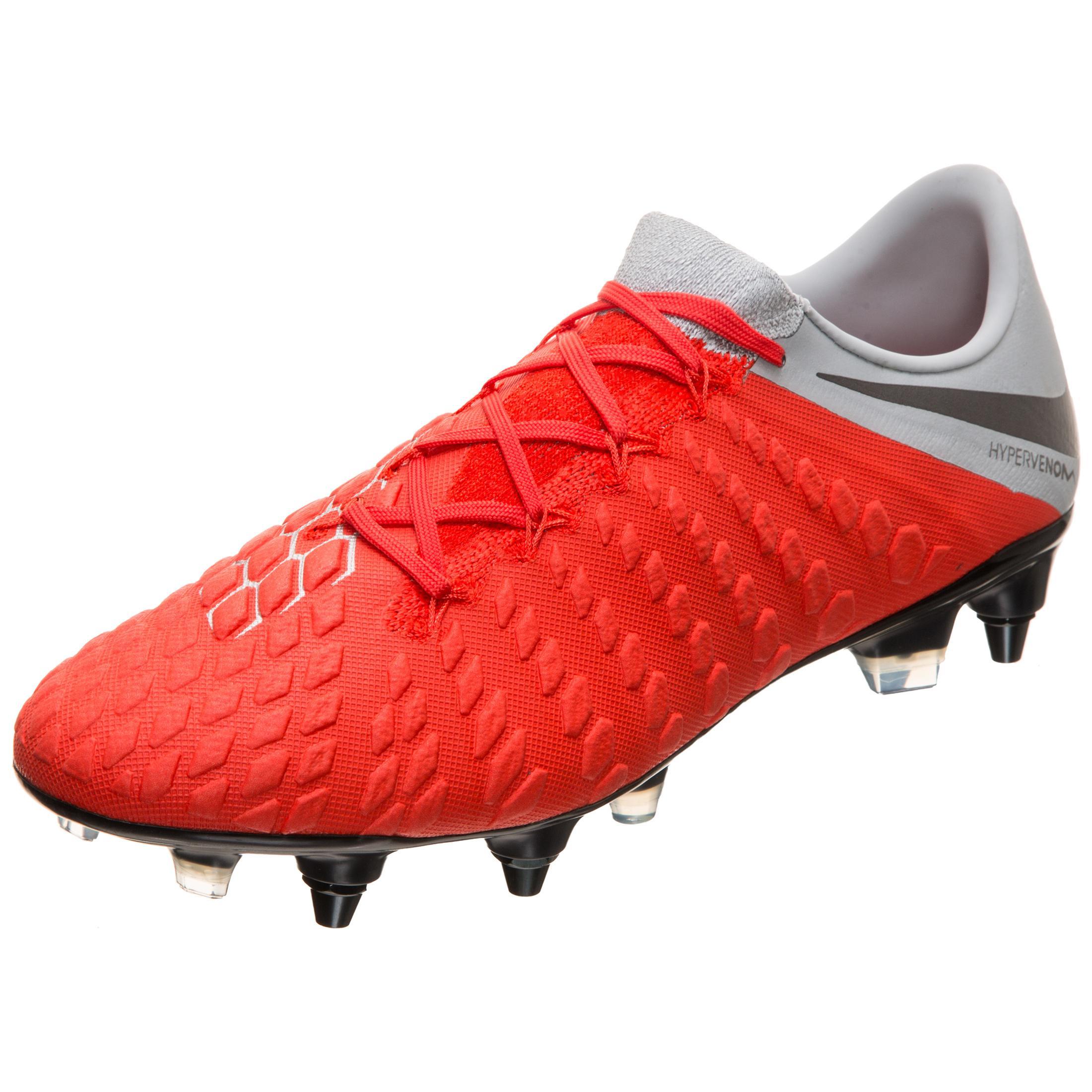 Nike Hypervenom Phantom III Elite SG-Pro AC Fußballschuhe Herren rot / grau  im Online Shop von SportScheck kaufen