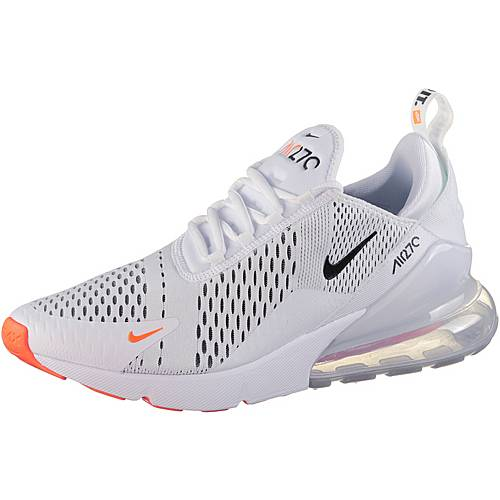 Nike Air Max 270 JDI Sneaker Herren white black total orange