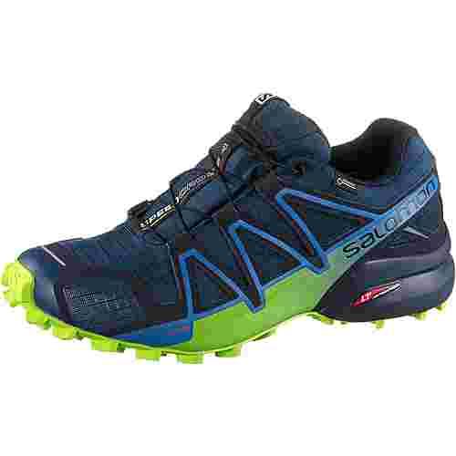 Salomon GTX® Speedcross 4 Trailrunning Schuhe Herren poseidon-navy-blazer-lime-green