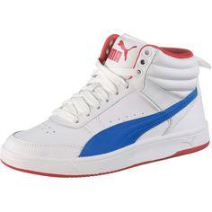PUMA Sneaker Kinder puma white-strong blue-ribbon red