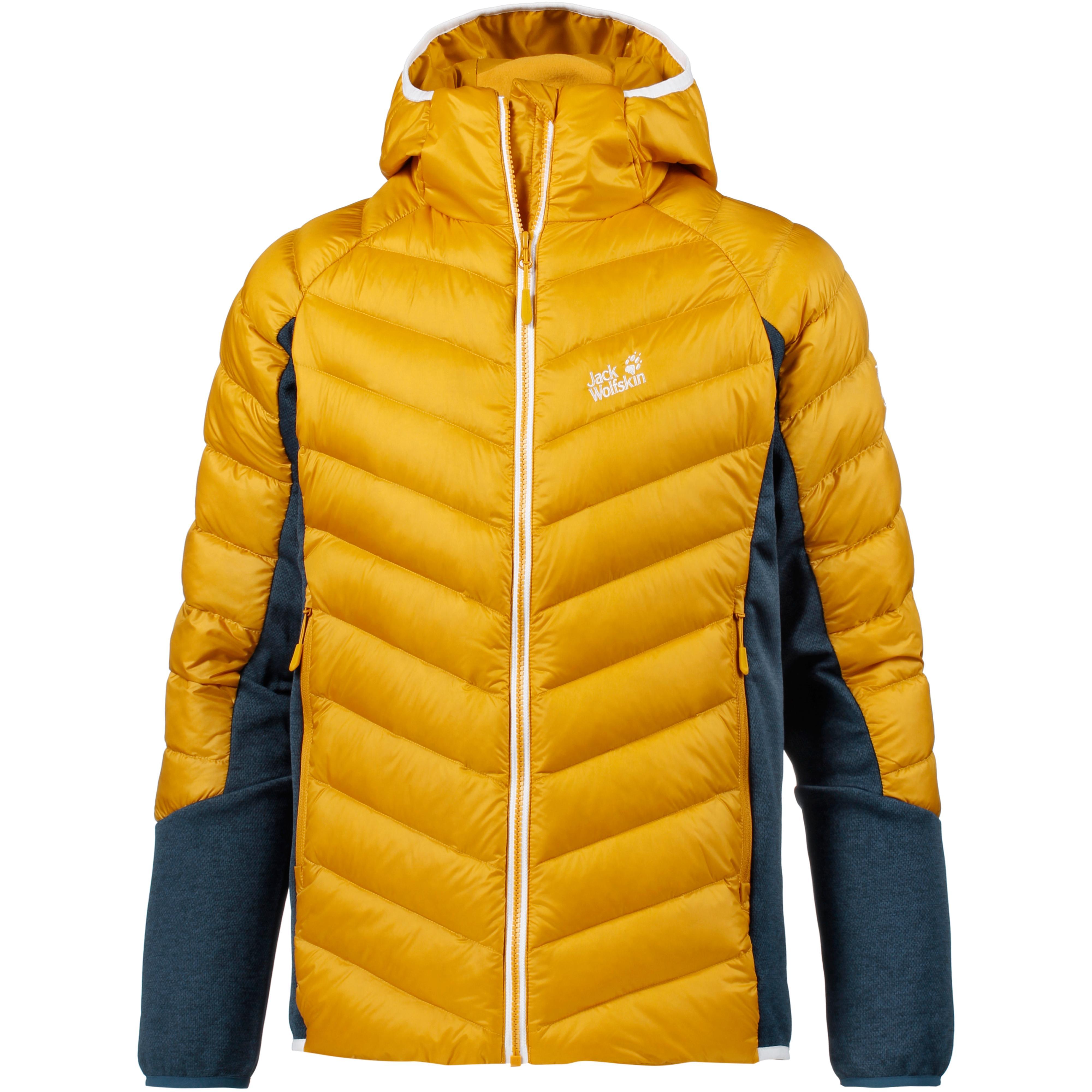 ästhetisches Aussehen Schnäppchen für Mode Super Rabatt Jack Wolfskin Stratosphere Daunenjacke Herren golden yellow im Online Shop  von SportScheck kaufen