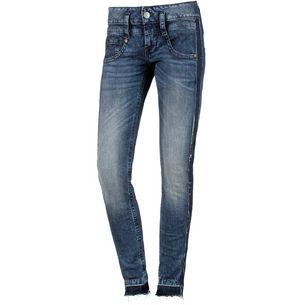 Herrlicher Pitch Stripe Skinny Fit Jeans Damen open up