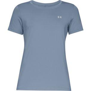 Under Armour Heatgear Armour Funktionsshirt Damen washed blue-metallic silver
