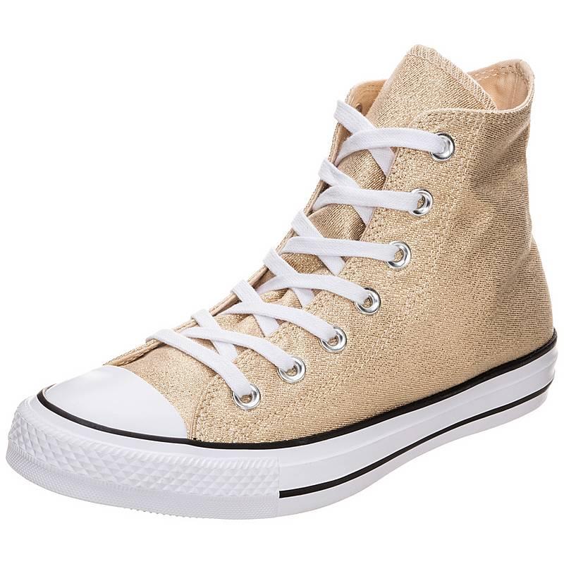 fb3d9833b016c1 CONVERSE Chuck Taylor All Star High Sneaker Damen gold   weiß im ...