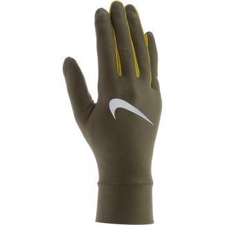 Nike Lightweight Tech Laufhandschuhe Herren olive-canvas-bright-citron-silver