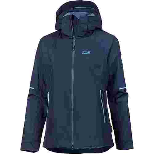Jack Wolfskin Sierra Pass 3in1 Hardshelljacke Damen midnight blue