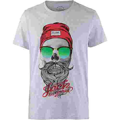 CORE by JACK & JONES T-Shirt Herren white melange