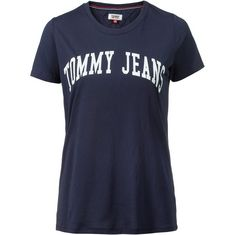 Tommy Jeans Clean Logo Tee T-Shirt Damen black-iris