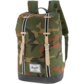 Herschel Rucksack Retreat Daypack woodland camo-dark denim