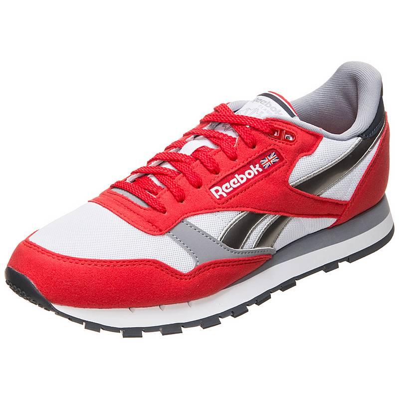 Reebok Classic Leather Sneaker Herren rot   weiß   silber im Online ... adbe5f59a6