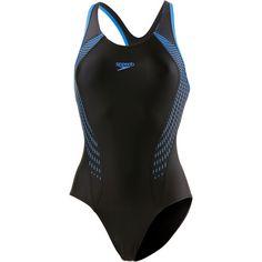 SPEEDO Schwimmanzug Damen blk oxidgrey winsdorblue