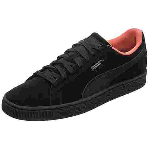 PUMA Suede Classic Tonal Nu Skool Sneaker Herren schwarz / orange