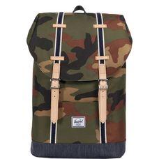 Herschel Retreat Mid-Volume Daypack camouflage / blau