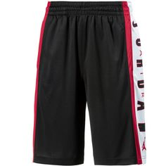 Nike RISE 3 Shorts Herren black-gym red-white-gym red