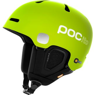 POC POCito Fornix Skihelm Kinder Flourescent Yellow/Green