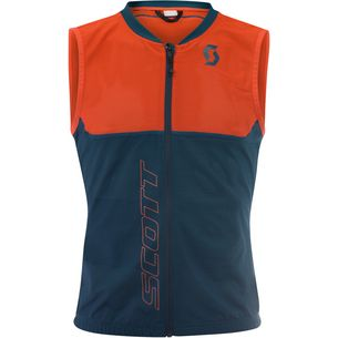 SCOTT Actifit Plus Light Vest Protektorenweste Herren denim blue/tangerine orange