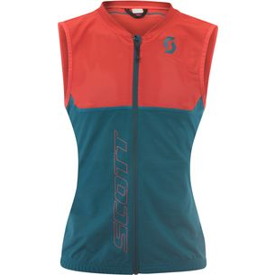 SCOTT Actifit Plus Light Vest Protektorenweste Damen dragonfly green/hibiscus red