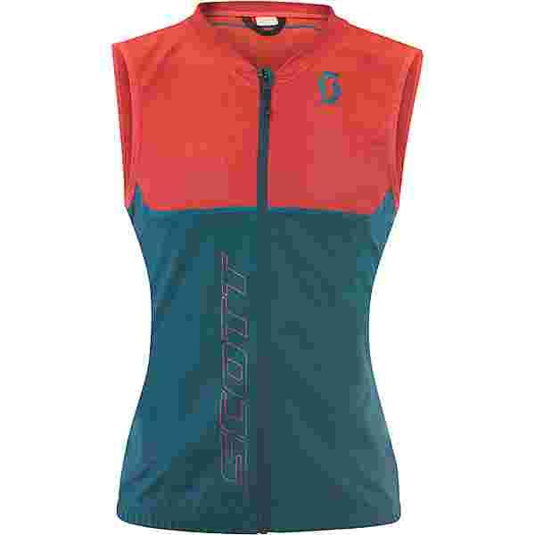 SCOTT Actifit Plus Light Vest Protektorenweste Damen dragonfly green/hibiscus red