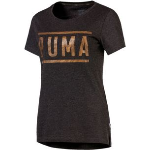 PUMA T-Shirt Damen Dark Gray Heather-bronze Medal