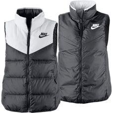 Nike Daunenweste Damen WHITE/BLACK