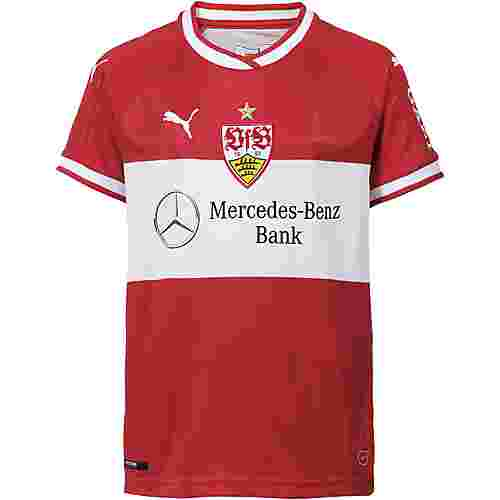 PUMA VfB Stuttgart 18/19 Auswärts Fußballtrikot Kinder ribbon red-puma white