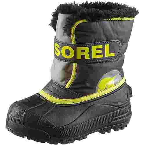 Sorel Winterschuhe Kinder dark grey- warning yellow