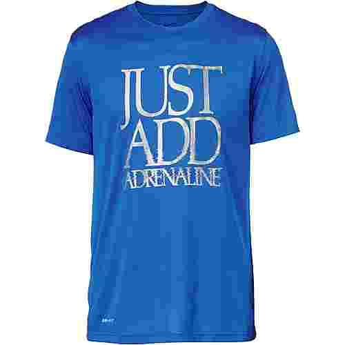 Nike Dry Tee Legend Adrenaline Laufshirt Herren signal-blue-white