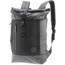 Enter Daypack black waterproof-black heavy nylon-black leather