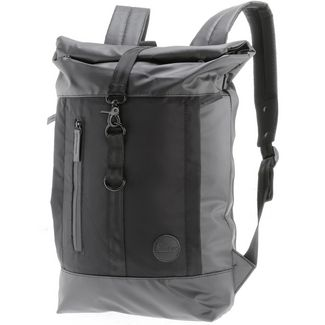 Enter Rucksack Daypack black waterproof-black heavy nylon-black leather