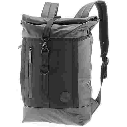 Enter Rucksack Daypack black waterproof-black heavy nylon-black leather