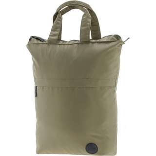 Enter Shopper army green heavy nylon-black leather