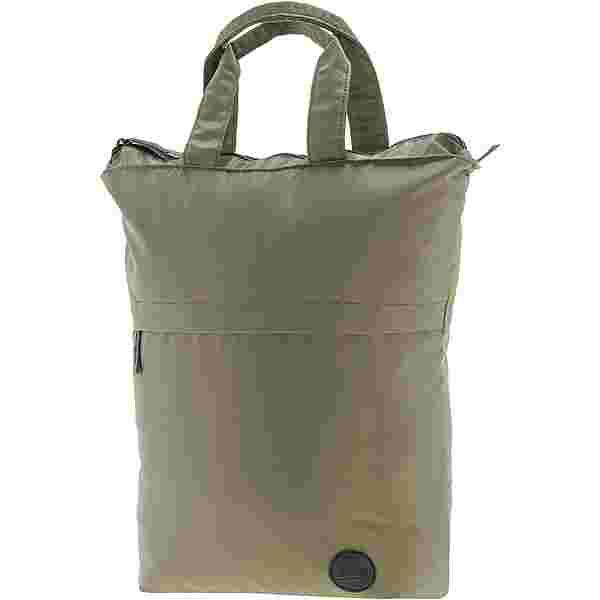 Enter Shopper army green heavy nylon-black leather