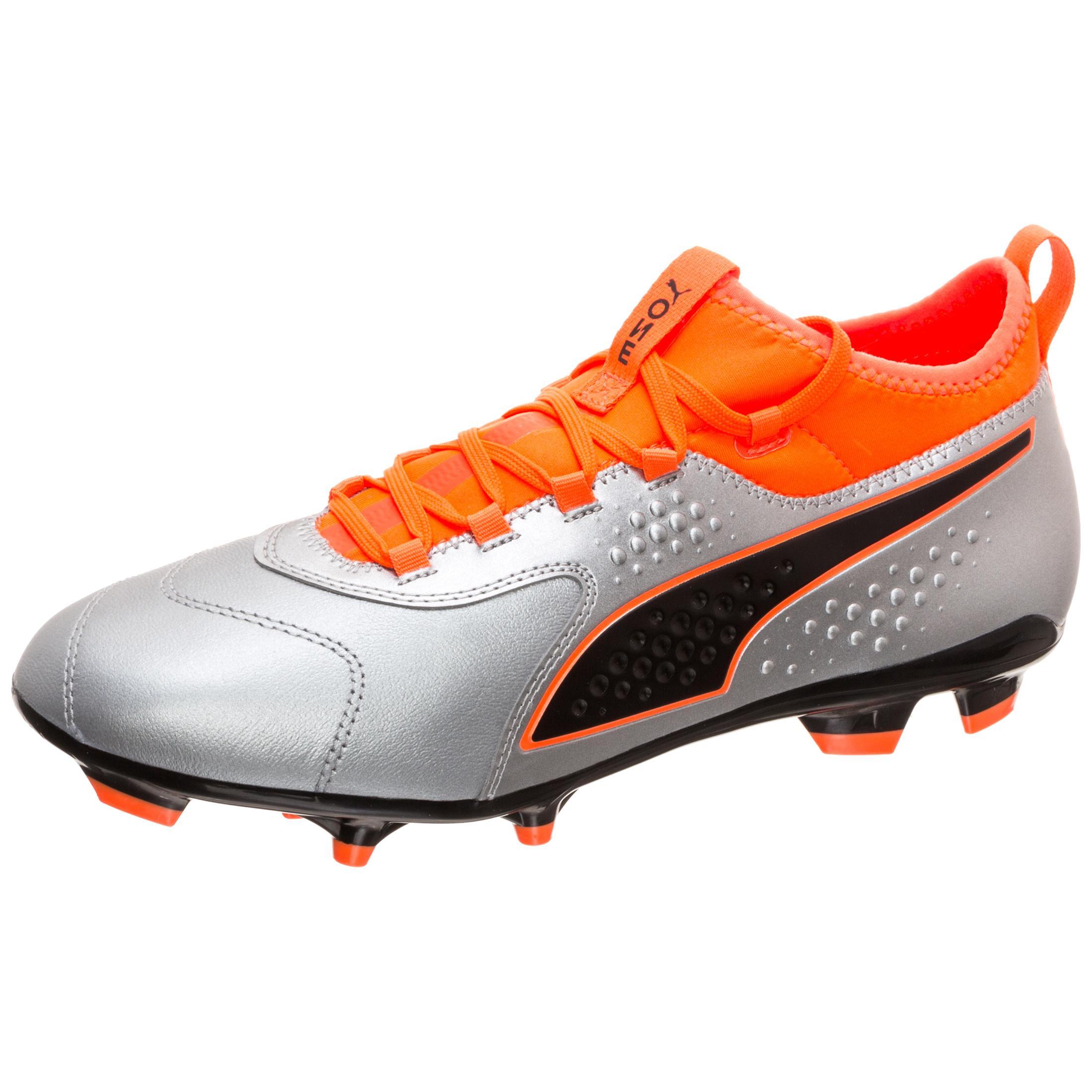 PUMA Puma ONE 3 Fußballschuhe Herren Herren Herren silber   neonOrange im Online Shop von SportScheck kaufen Gute Qualität beliebte Schuhe 6f4338