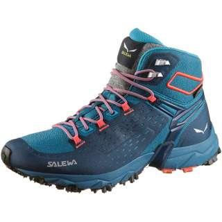 SALEWA GTX® Alpenrose Ultra Mid Wanderschuhe Damen blue sapphire-fluo coral