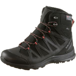 Salomon Woodsen TS CSWP Winterschuhe Damen black-phantom-hibiscus