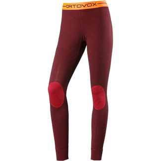 ORTOVOX 185 Rock`n`Wool Merino Funktionsunterhose Damen dark blood blend