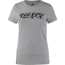 Reebok Graphic Series Script T-Shirt Damen medium grey heather