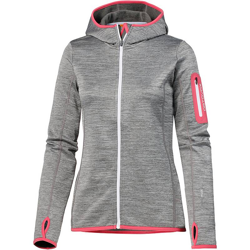 ORTOVOX Fleece Melange Fleecejacke Damen grey blend im Online Shop ... 47abb6003b