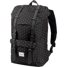 Herschel Little America Mid-Volume Daypack Damen black gridlock gold