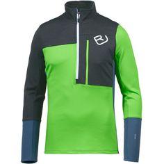 ORTOVOX Fleece Light Zip Fleecepullover Herren matcha green