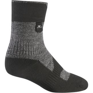 Sealskinz Walking Thin Ankle Merino Wandersocken dark grey-black