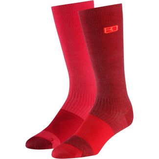 ORTOVOX Tour Compression Wandersocken Damen dark blood