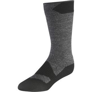 Sealskinz Walking Thin Mid Merino Wandersocken dark grey marl-black