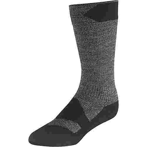 Sealskinz Walking Thin Mid Merino Wandersocken dark grey marl-black